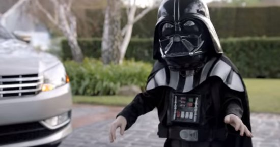 Mini Darth Vader From That Super Bowl Ad Doesn't Look Like This Anymore