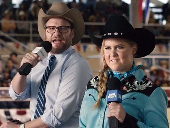 Amy Schumer and Seth Rogen Spoof the Campaign Trail in New Bud Light Super Bowl Ad: 'Just Wait 'Til You See Our Caucus'