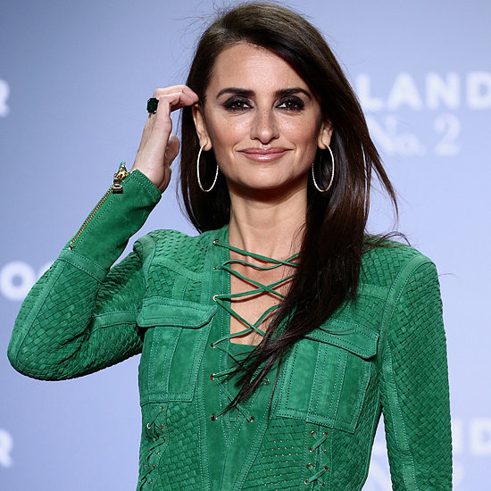 Penelope Cruz Wearing Green Balmain Dress
