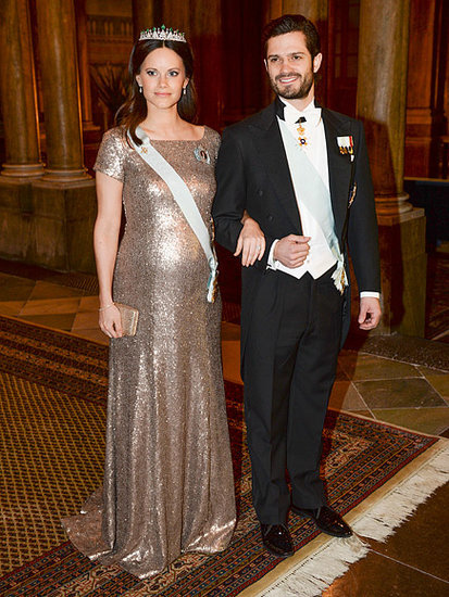 Double Bump Alert! Pregnant Princesses Sofia and Victoria Shine at Royal Palace Dinner