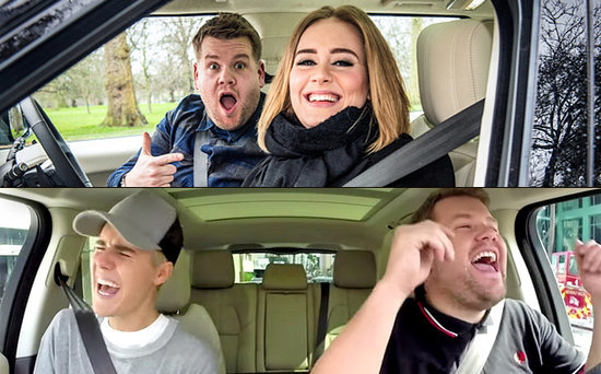 FROM EW: James Corden Goes Inside Adele's Carpool Karaoke Rap, Elton John's Upcoming Ride and His Dream Guests