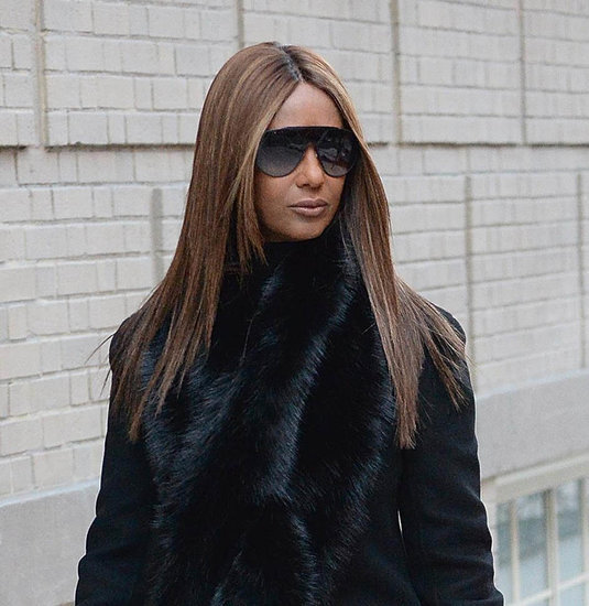 Iman steps out in New York with her dog for first time since David Bowie's passing