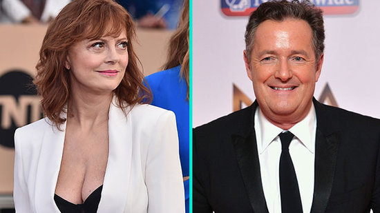 Susan Sarandon and Piers Morgan Have a Twitter Spat Over Her Cleavage (Yes, Really)