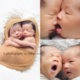 These Newborn Twins and Their Squishy Faces Will Instantly Make Your Ovaries Explode