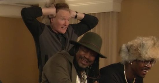 Conan O'Brien Freaks Out Playing 'Doom' With Super Bowl Stars