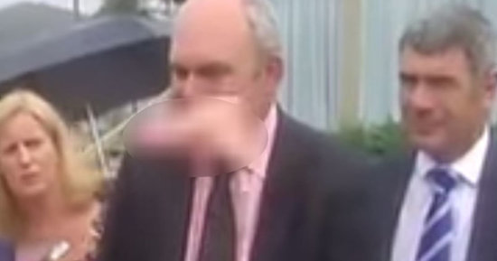 Flying Pink Dildo Hits Politician In The Face During Presser