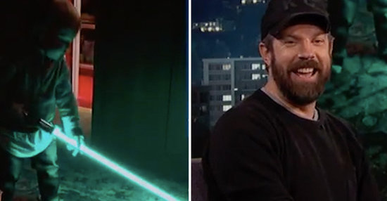 Jason Sudeikis' Son Playing With A Lightsaber Is Hilarious And Adorable