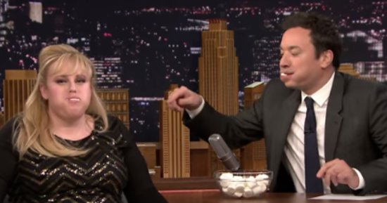 Watch Jimmy Fallon And Rebel Wilson Play 'Chubby Bunny'