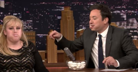 Rebel Wilson And Jimmy Fallon Play An Endearing Game Of 'Chubby Bunny'