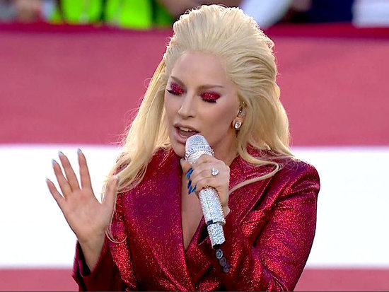 Lady Gaga Nails the National Anthem  at the Super Bowl - and the Internet Goes Wild