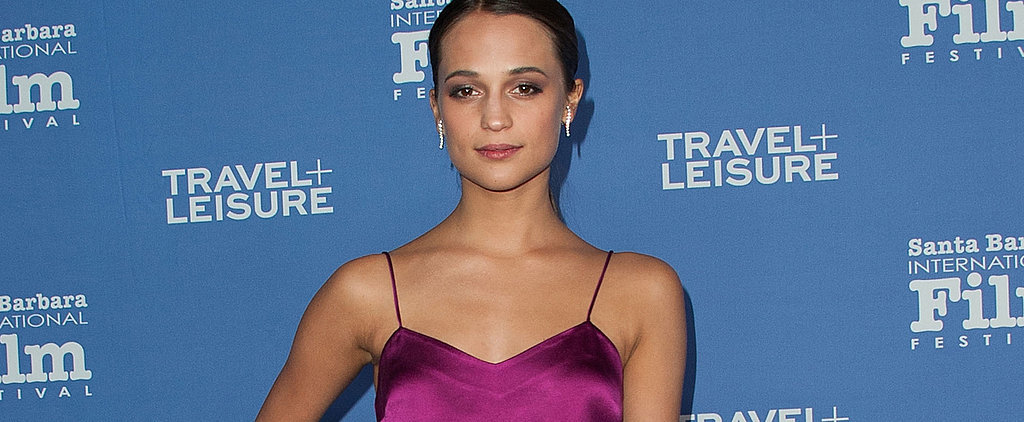 Alicia Vikander Mixes 2 Shades of Pink in 1 Seriously Elegant Look