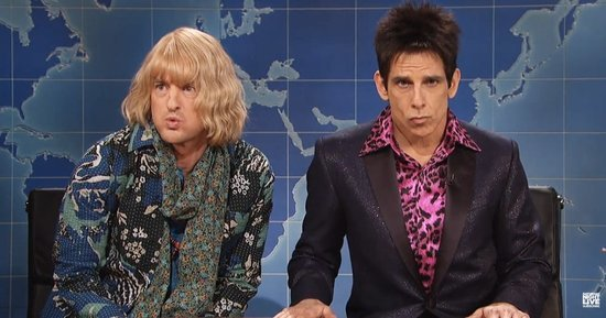 Zoolander's Ben Stiller and Owen Wilson Appear on SNL's Weekend Update, Diss Trump: Watch