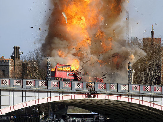 VIDEO: London Bus Explosion for Jackie Chan Movie Stunt Sends Onlookers into a Panic