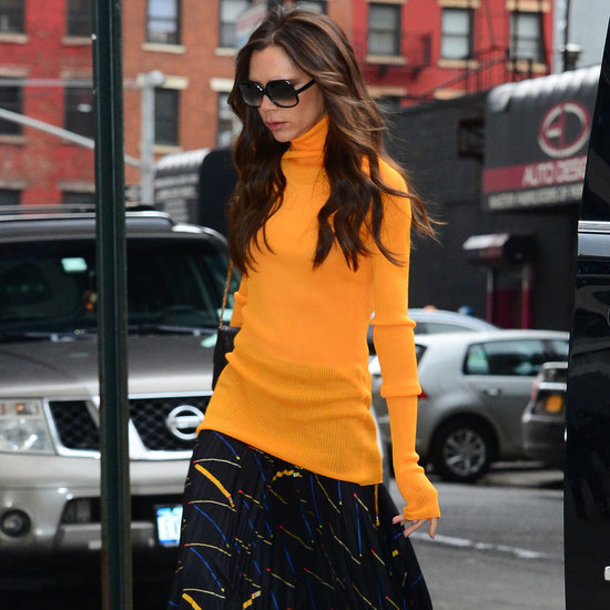 Victoria Beckham Wearing a Turtleneck February 2016