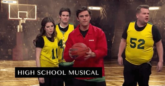 "Zac Efron Does A 5-Second ""High School Musical"" Recreation On The Late Late Show"