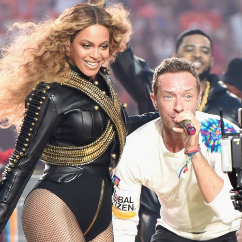 Beyonce Dancing to Coldplay Before Super Bowl Performance