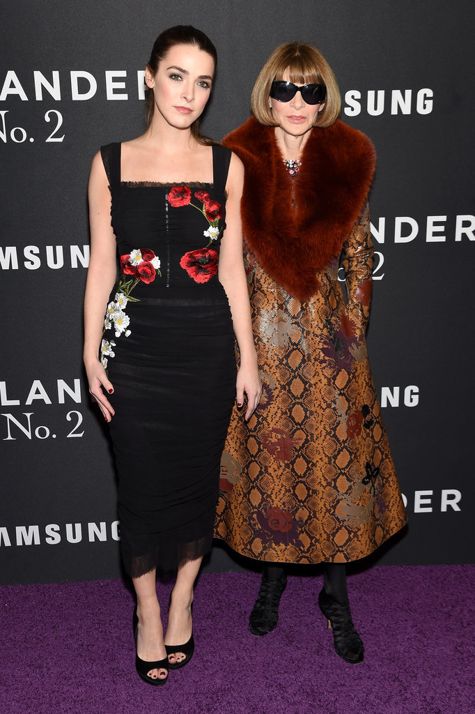 Bee Shaffer wearing Dolce & Gabbana with Anna Wintour.