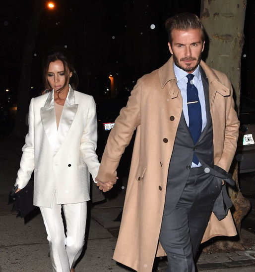 David and Victoria Beckham have dinner in New York with Anna Wintour and son Brooklyn ahead of NYFW
