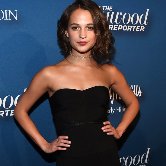 Alicia Vikander's Black Strapless Dress | 2016