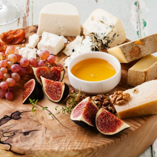 Cheese Plate For Winter Dinner Party