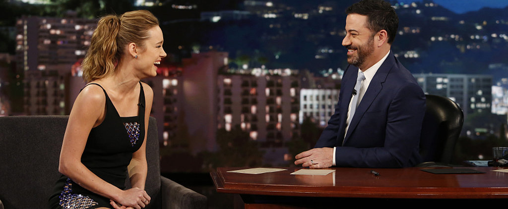 Brie Larson Wears an LBD With the Sexiest Little Details on Jimmy Kimmel