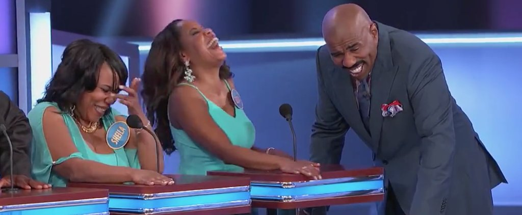 Steve Harvey Turns This Family Feud Contestant's Horrible Answer Into a Full-On Comedy Routine
