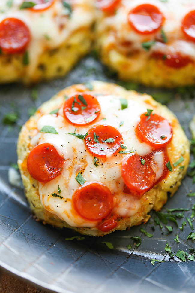 Mini Cauliflower Pizzas