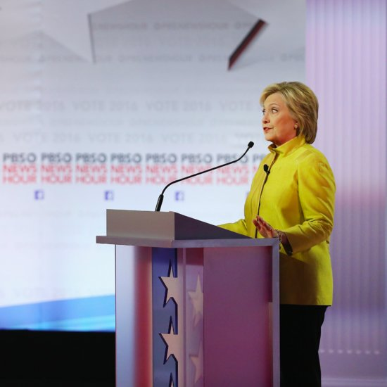 Hillary Clinton Asked About Being Woman During Debate