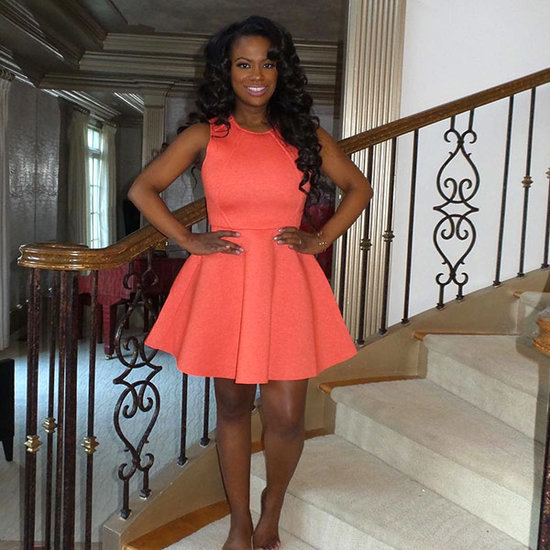 Kandi Burruss Stuns in Coral-Colored Dress Just Weeks After Having Baby