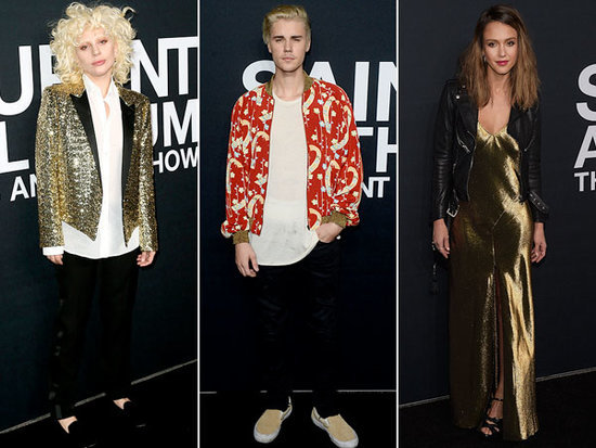 Lady Gaga, Justin Bieber, Jessica Alba and More Attend Saint Laurent at the Palladium Event in L.A.