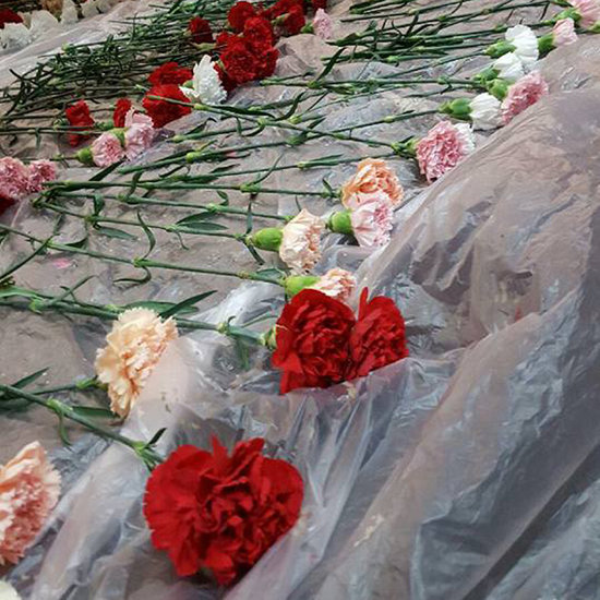 Teen Buys Flowers For the Girls at His School