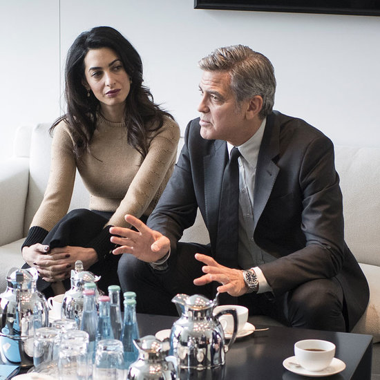 George and Amal Clooney Sit Down With Angela Merkel