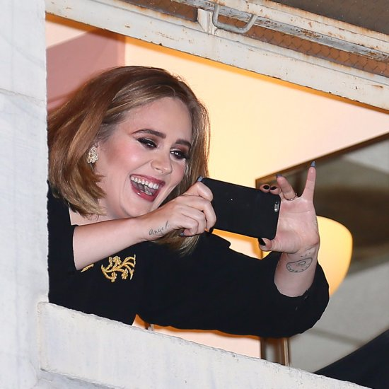 Celebrities at Adele Concert February 2016
