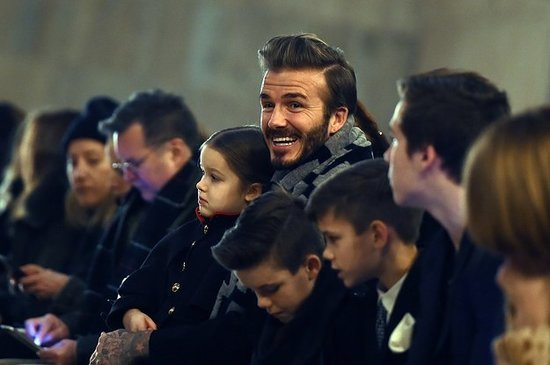 The Beckham Family Shut It Down At Victoria's Fashion Show