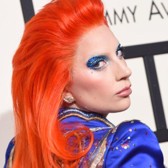 Lady Gaga Makeup and Hair at the 2016 Grammys