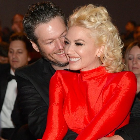 Gwen Stefani and Blake Shelton at Clive Davis Party 2016