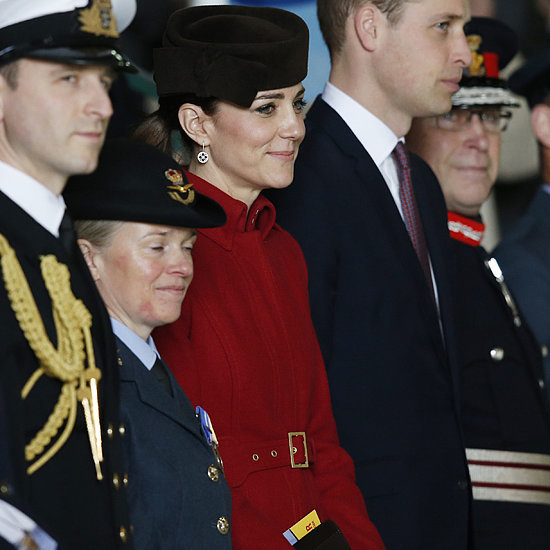 The Duchess of Cambridge Wearing Red LK Bennett Coat 2016
