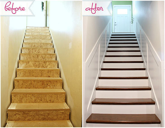 Unfinished staircase makeover popsugar home for Diy staircase makeover