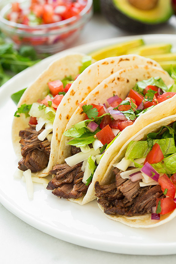 Chipotle-Style Slow Cooker Barbacoa Beef Tacos | Satisfy Your Taco ...