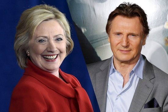 Clinton Campaign Taken by Liam Neeson