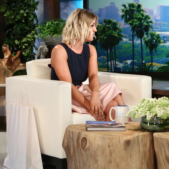Kaley Cuoco Talks Divorce on Ellen February 2016