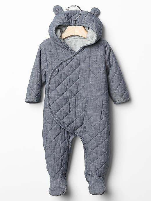 Baby Gap Quilted Chambray One-Piece
