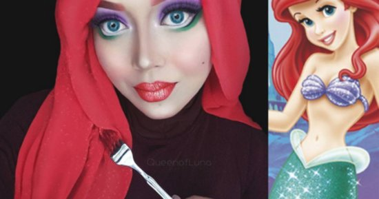 Makeup Artist Uses Her Hijab To Shatter Disney Princess Stereotypes
