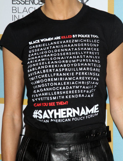 Thandie Newton's #SayHerName shirt at  Essence Black Women in Hollywood event