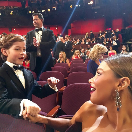 Sofia Vergara and Jacob Tremblay at the Oscars 2016