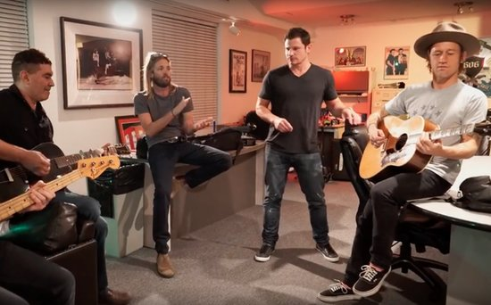 FROM EW: The Foo Fighters Aren't Breaking Up - But Joke That Nick Lachey May Join the Band (See His Audition!)