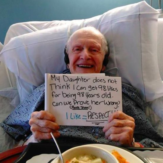 Grandfather's Facebook Photo Goes Viral For His Birthday