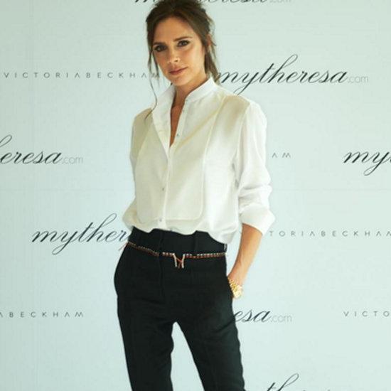 Victoria Beckham Wears White Button-Down in Seoul