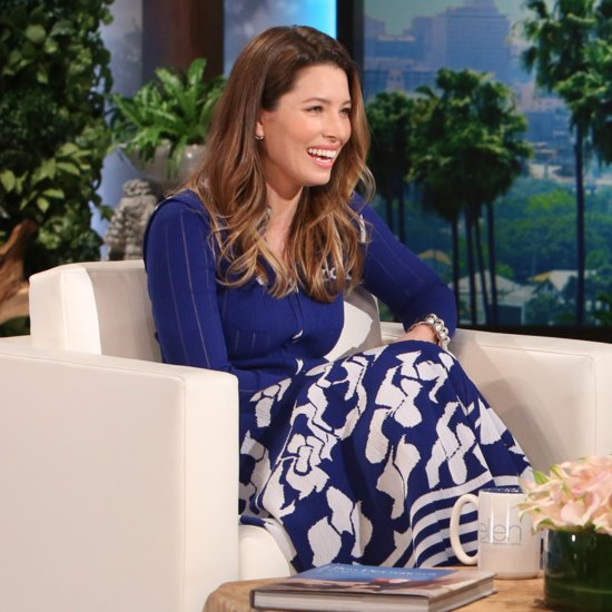 Jessica Biel on The Ellen DeGeneres Show March 2016