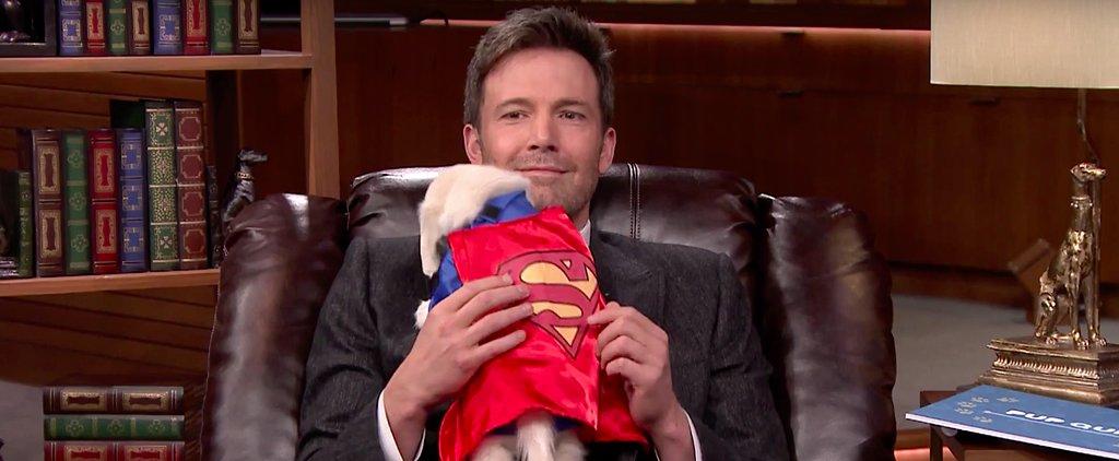 Ben Affleck Cuddles With a Superhero Puppy, Makes Everyone Turn to Mush